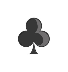 isolated casino clover flat design vector image