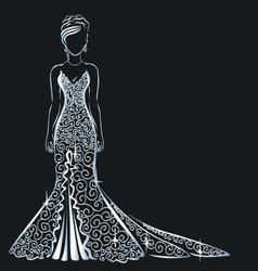 Lace dress brilliant vector