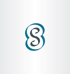 letter s or number 8 eight logo icon vector image