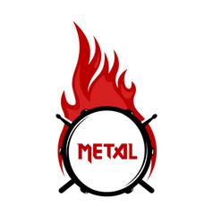logo for metal music community vector image