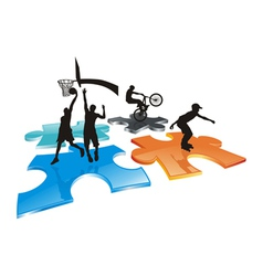 logo teens vector image