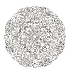 Mandala oriental pattern doodle drawing vector