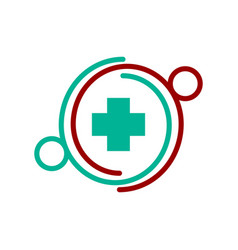 Medical health clinic community logo vector