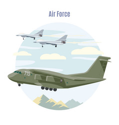 Military aviation concept vector