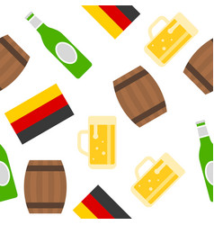 oktoberfest seamless pattern and german flag vector image