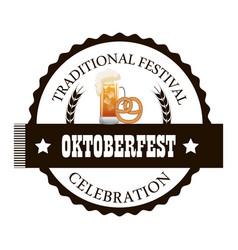 Oktoberfest traditional food isolated vector