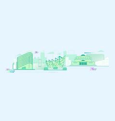 panorama flat stylish city vector image vector image