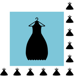 Party fashion dress icon or silhouette with vector