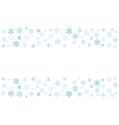 pattern of snowflakes eps-10 vector image