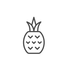 pineapple line outline icon fruit concept vector image