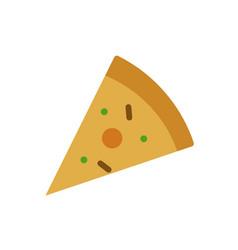 pizza icon color style vector image