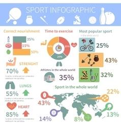 Popular sport infographic report print vector