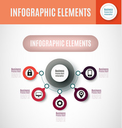 process chart infographics vector image