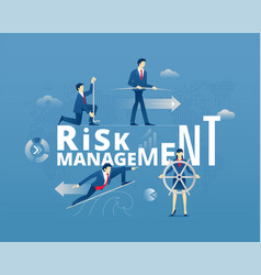 Risk management typographic poster vector