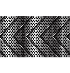 Silver arrow pattern direction on circle mesh vector
