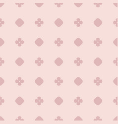simple pink abstract seamless pattern with flowers vector image