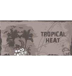 Summer grunge floral background vector