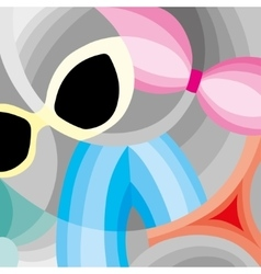 summer vacation accessories vector image
