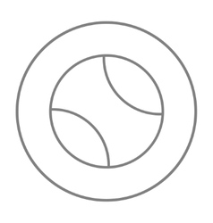 Tennis ball line icon vector image