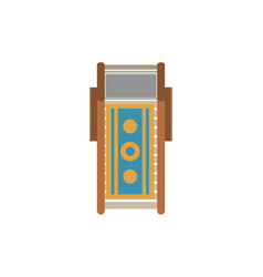 Top view beach sunbed isolated icon vector