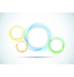 Transparent rings - abstract background for vector image