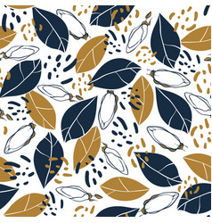 Trendy seamless pattern with botanical elements vector