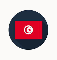 Tunisia flag icon vector
