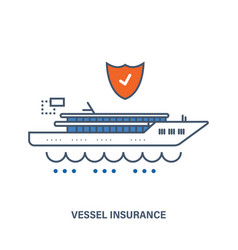 vessel insurance flat vector image