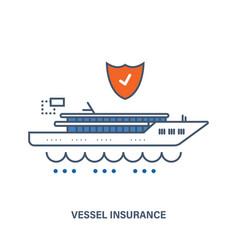 Vessel insurance flat vector