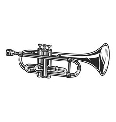 Vintage trumpet concept vector