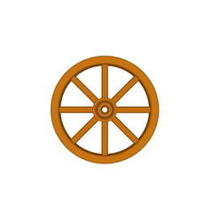Vintage wooden wheel in brown design vector