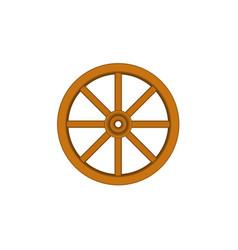 Vintage wooden wheel in brown design vector