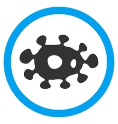 Virus flat rounded icon vector