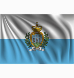 Waving san marino vector