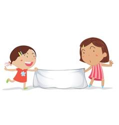 banner girls vector image