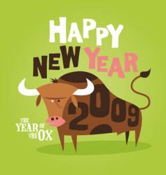 bull 2009 vector image vector image