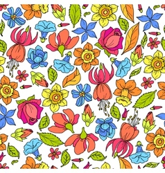 Flowers Pattern Colored vector image vector image