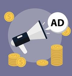 Marketing concept Loudspeaker flat icon vector image vector image