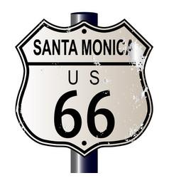 Santa monica route 66 sign vector