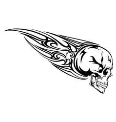 skull with tribal vector image vector image