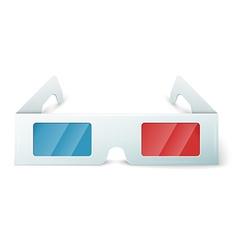 Three D glasses vector image