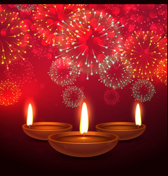 beautiful diwali festival background with vector image vector image