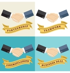 Businessman shaking hands vector image