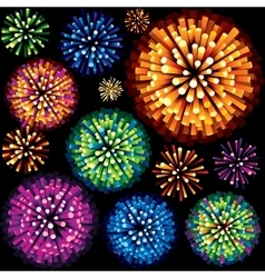 Fireworks and Explosion 3D Isolated Design Element vector image vector image