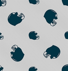 football helmet icon sign Seamless pattern with vector image vector image