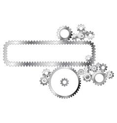 metal cogwheels vector image vector image