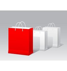 Promotional paper bag vector