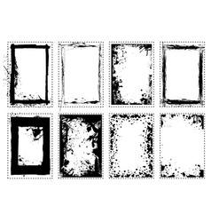 splat grunge picture frame vector image vector image
