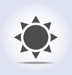 sun icon on gray background vector image