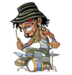 Tattoo Drummer vector image vector image